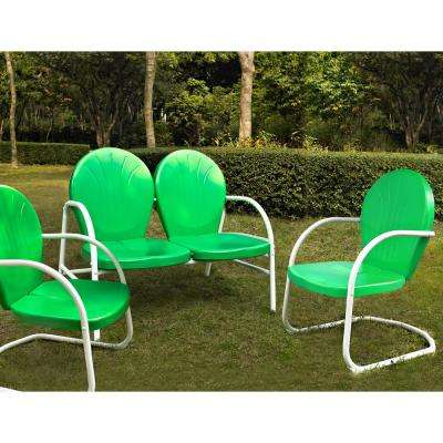 Griffith Green 3-Piece Metal Conversation Seating Set