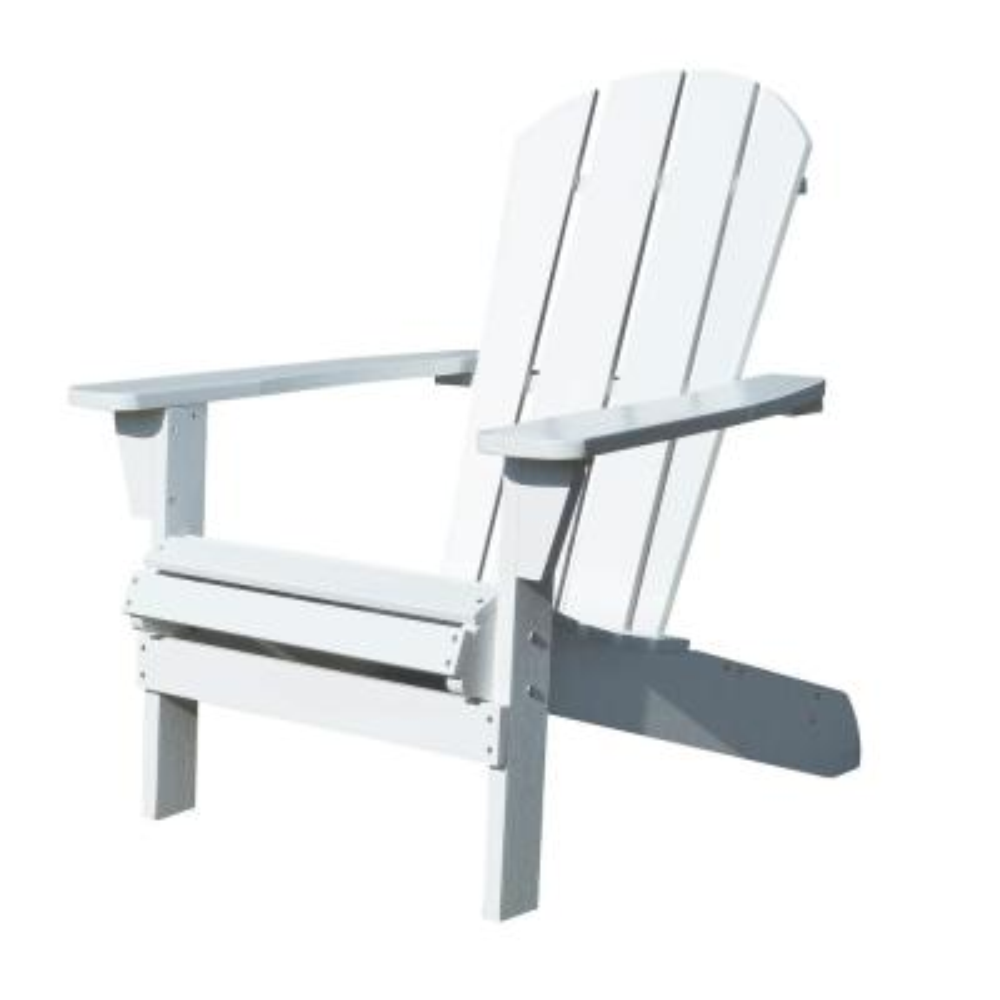 Faux Wood White Adirondack Chair