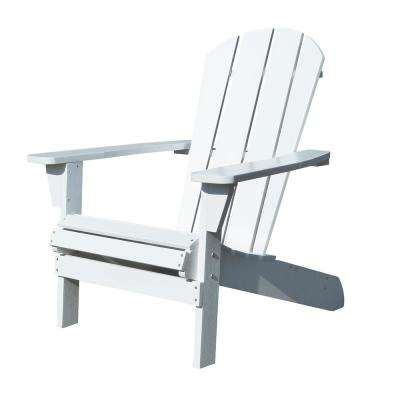Faux Wood White Adirondack Chair