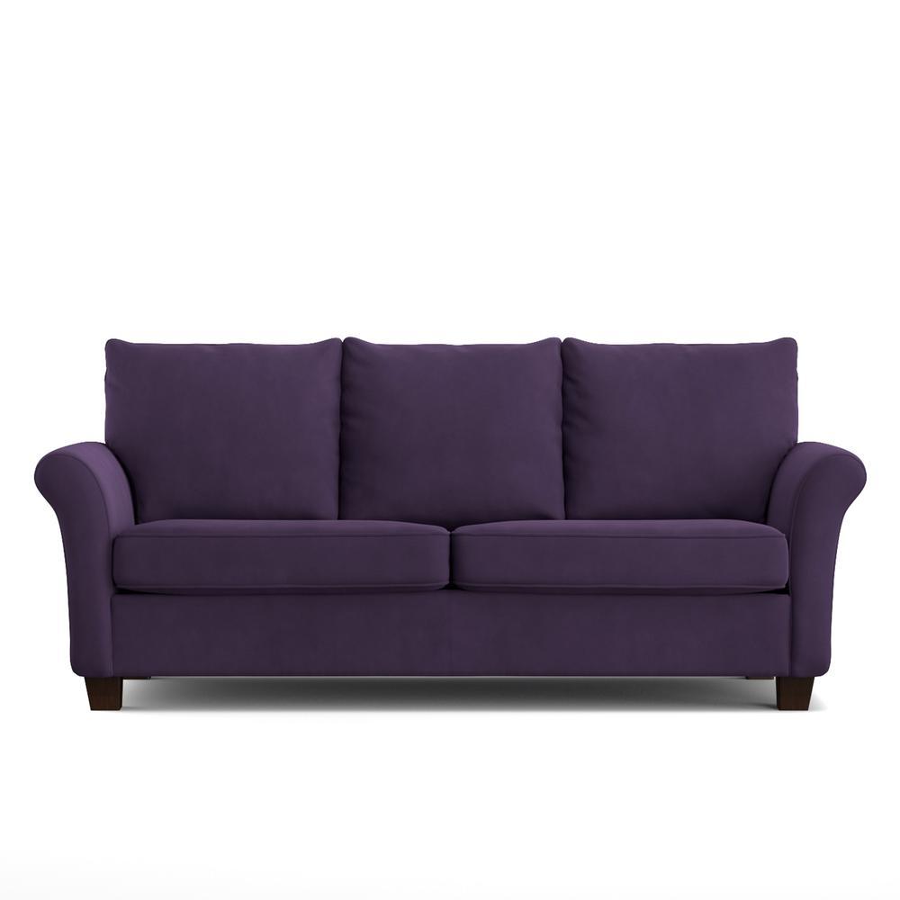 rockford sofast sofa in purple velvet - Purple Furniture