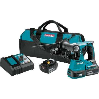 18-Volt LXT Lithium-Ion 1 in. Brushless Cordless SDS-Plus Concrete/Masonry Rotary Hammer Drill with (2) Batteries 5.0Ah