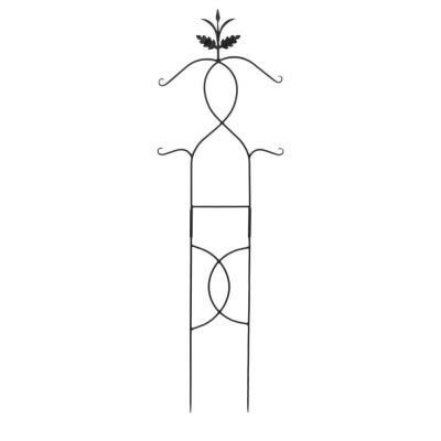 Tendrils Trellis I Gardening Tool, 72 in. Tall Black Powder Coat Finish