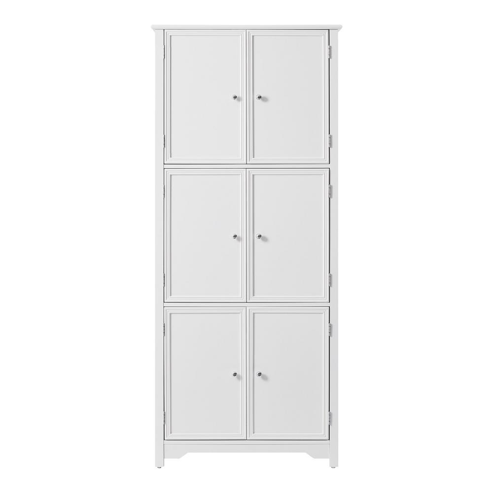 Bradstone White 6 Door Storage Cabinet