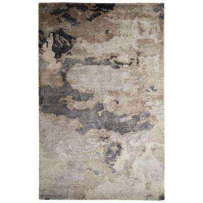 Hand-Tufted Pumice Stone 5 ft. x 8 ft. Abstract Area Rug