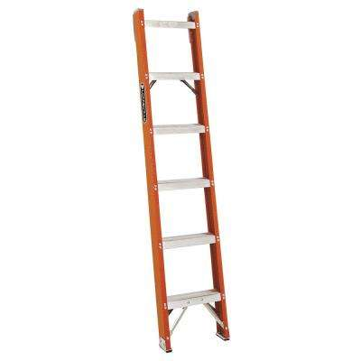 6 ft. Fiberglass Shelf Ladder with 300 lb. Load Capacity Type IA Duty Rating
