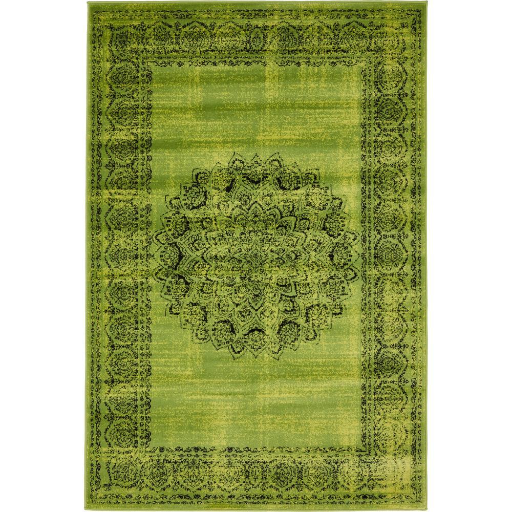 unique loom istanbul sage green 4 ft x 6 ft area rug 3134910 the home depot. Black Bedroom Furniture Sets. Home Design Ideas