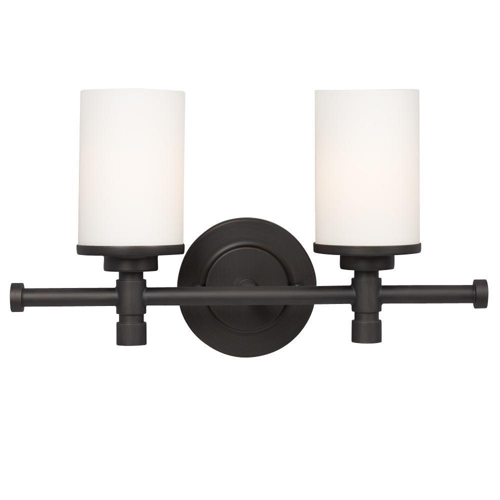 Filament design negron 2 light oil rubbed bronze for Bathroom vanity light fixtures oil rubbed bronze