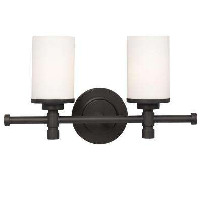 Negron 2-Light Oil-Rubbed Bronze Incandescent Bath Vanity Light
