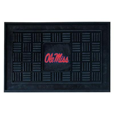 NCAA Mississippi University Red 19 in. x 30 in. Indoor/Outdoor Medallion Door Mat