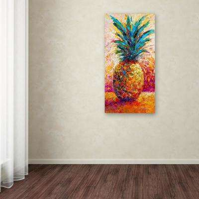 """32 in. x 16 in. """"Pineapple Expression"""" by Marion Rose Printed Canvas Wall Art"""