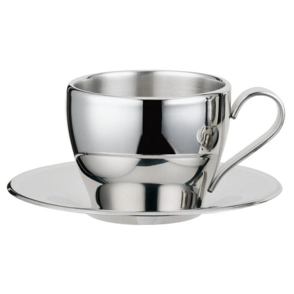d378fb2357 Visol Cappuccino 8 oz.. Stainless Steel Double Walled Cup with Saucer