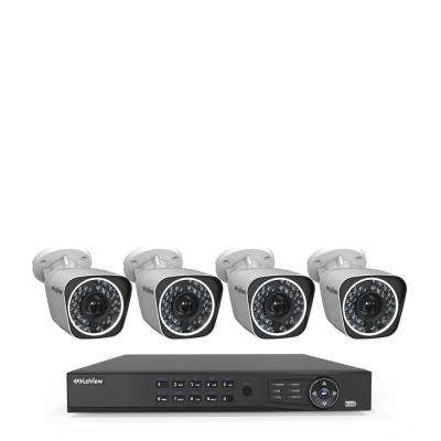 4-Channel Full HD IP Indoor/Outdoor Wi-Fi Surveillance 1TB NVR System (4) Bullet Cameras with Remote View