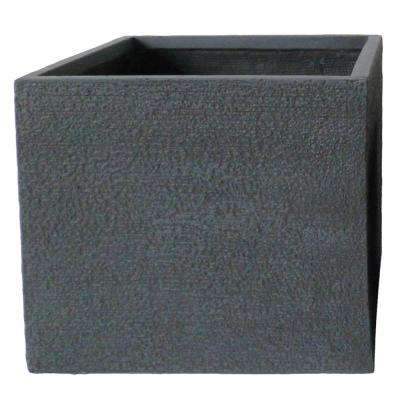 Origins Vela 16 in. Dark Gray Fiberclay Square Planter