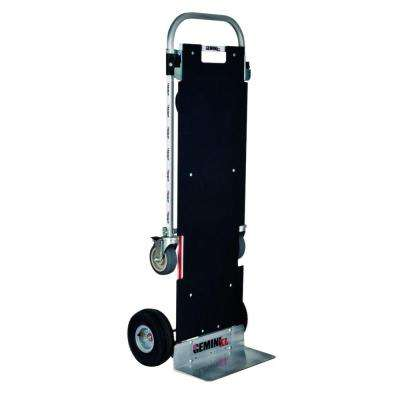 1,250 lb. Capacity Gemini XL Convertible Aluminum Hand Truck with Locking Casters, Non-Skid Platform, Pneumatic Wheels