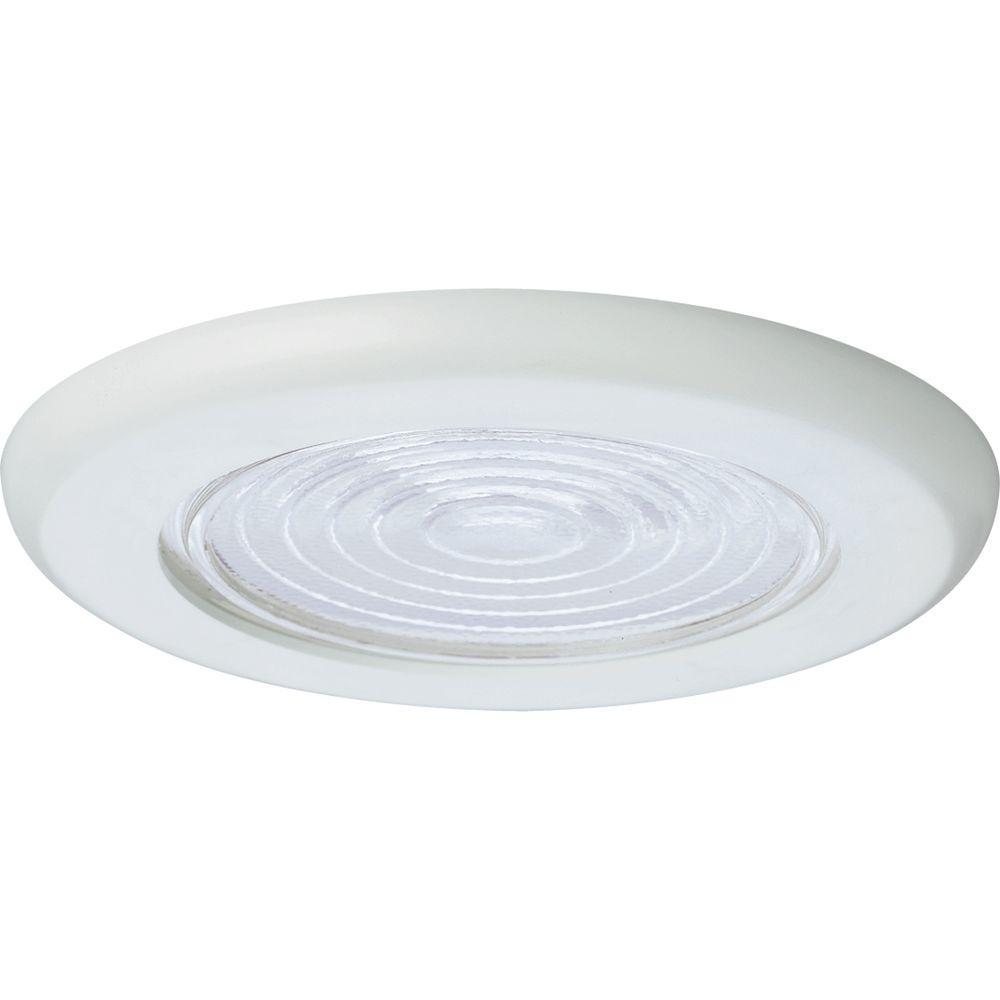 Progress Lighting 6 In White Recessed Fresnel Shower Trim