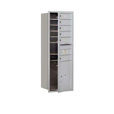 48 in. H x 16 3/4 in. W Aluminum Front Loading 4C Horizontal Mailbox with 6 MB1 Doors/1 PL5