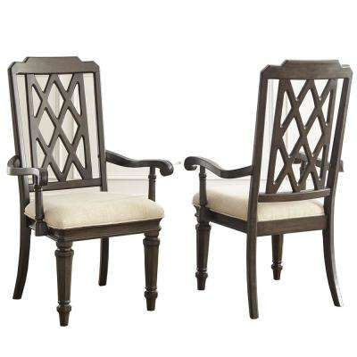 Vivaldi Walnut Arm Chair (Set of 2)