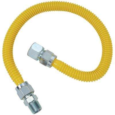 Gas Range and Gas Furnace Flex-Line (5/8 in. O.D. (3/4 in. FIP x 1/2 in. MIP) x 48 in.)