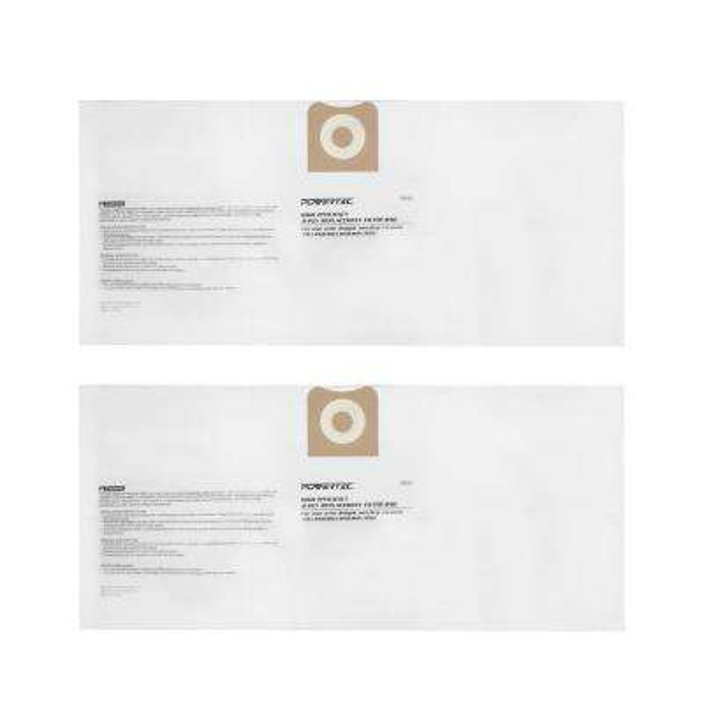High Efficiency Filter Bags for RIDGID Wet/Dry Vacuum VF3502 (2-Pack)