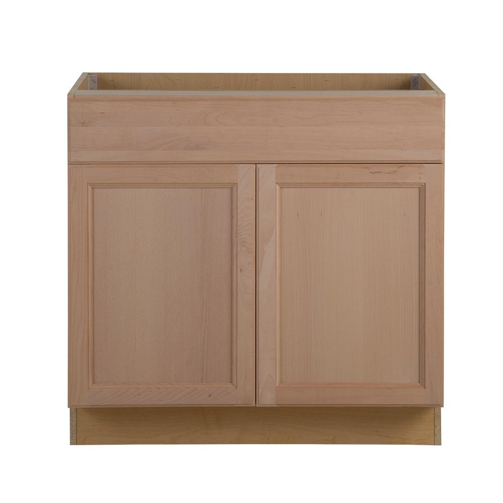 Unfinished Kitchen Cabinets. Assembled 36 in  x 34 5 24 63 Easthaven Base Cabinet with Unfinished Wood Kitchen Cabinets The Home Depot