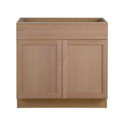 Assembled 36 in. x 34.5 in. x 24.63 in. Easthaven Base Cabinet with Drawer in Unfinished German Beech