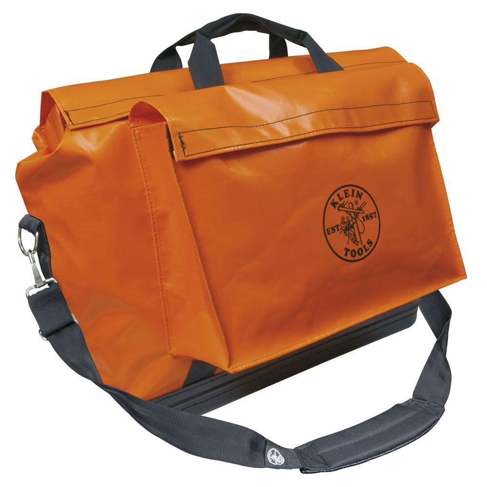 Orange Vinyl Equipment Bag