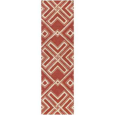 Congo Hayden Terra Cotta 2 ft. x 8 ft. Indoor Runner Rug