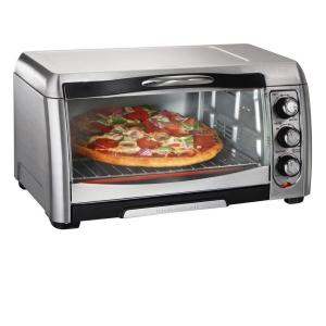 1400 W 6-Slice Stainless Steel Toaster Oven with Built-In Timer