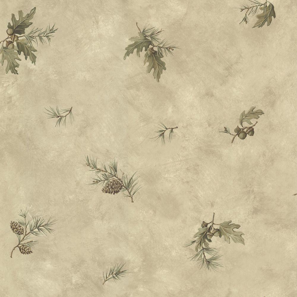 Brimstone Brown Forest Leaf Toss Wallpaper