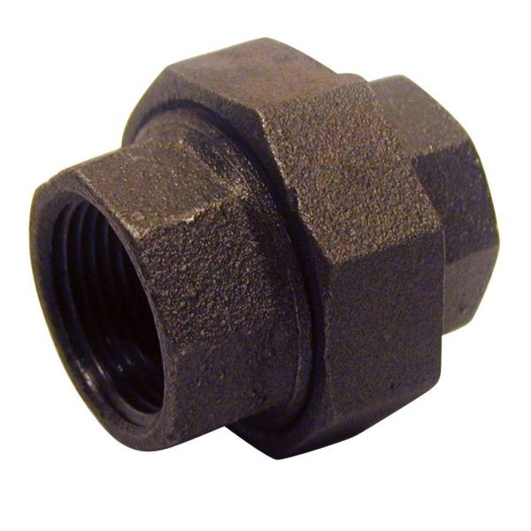 1/2 in. Black Malleable Iron Pressure FPT x FPT Union