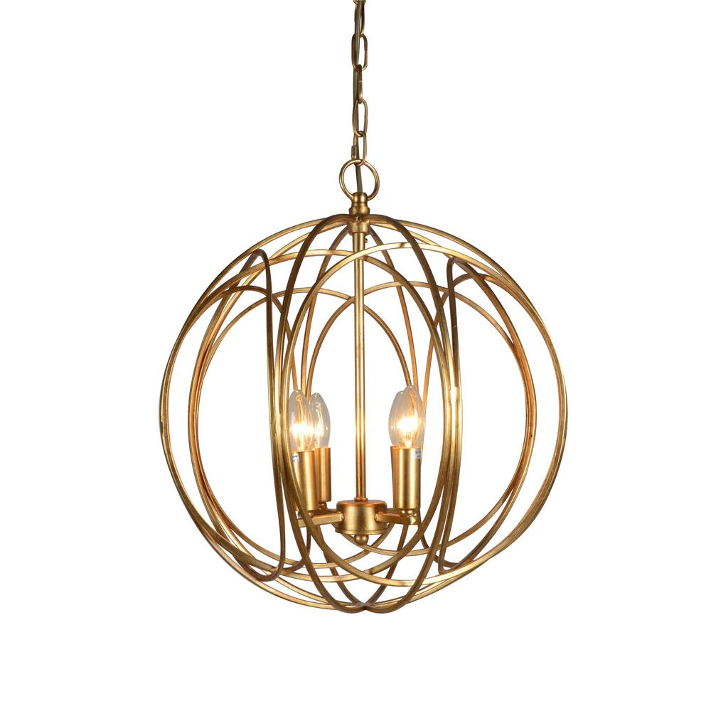Y Decor 4-Light Gold Chandelier-LZ3386-4 - The Home Depot