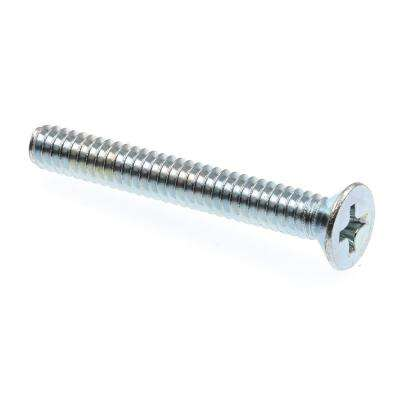 #10-24 x 1-1/2 in. Zinc Plated Steel Phillips Drive Flat Head Machine Screws (100-Pack)