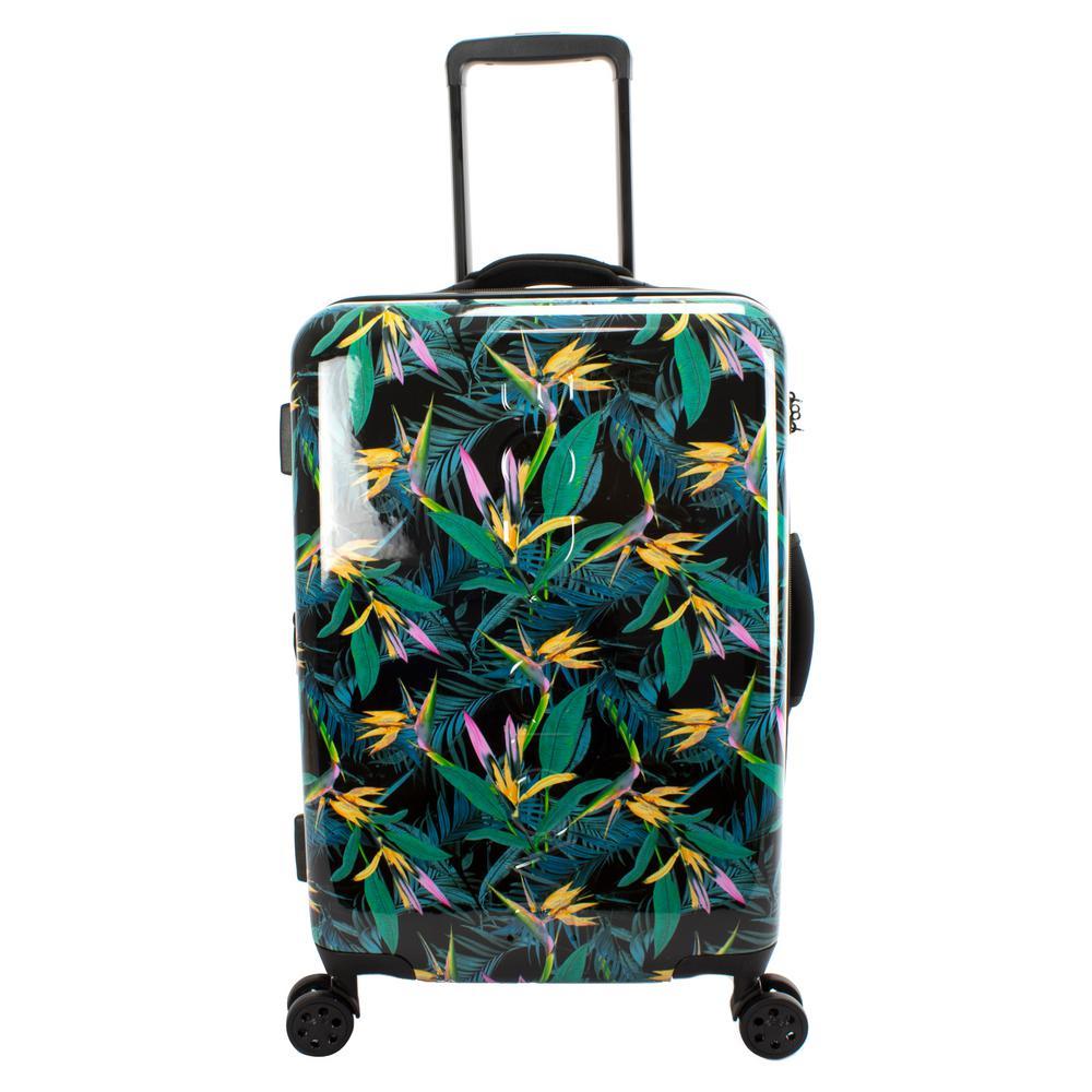 Paradise 22 in. Black Debossed Hardside Luggage