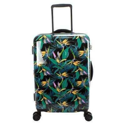 Paradise 22 in. Black Debossed Hardside Luggage