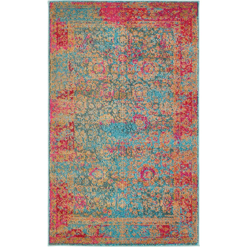 Palazzo Blue 3 ft. 3 in. x 5 ft. 3 in. Area Rug