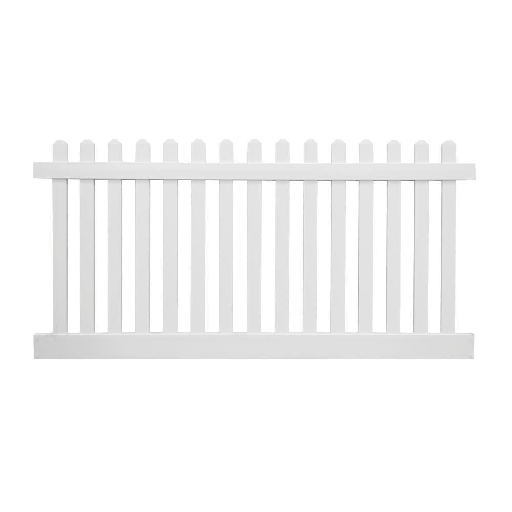 Lifetime Warranty Vinyl Fencing Fencing The Home Depot