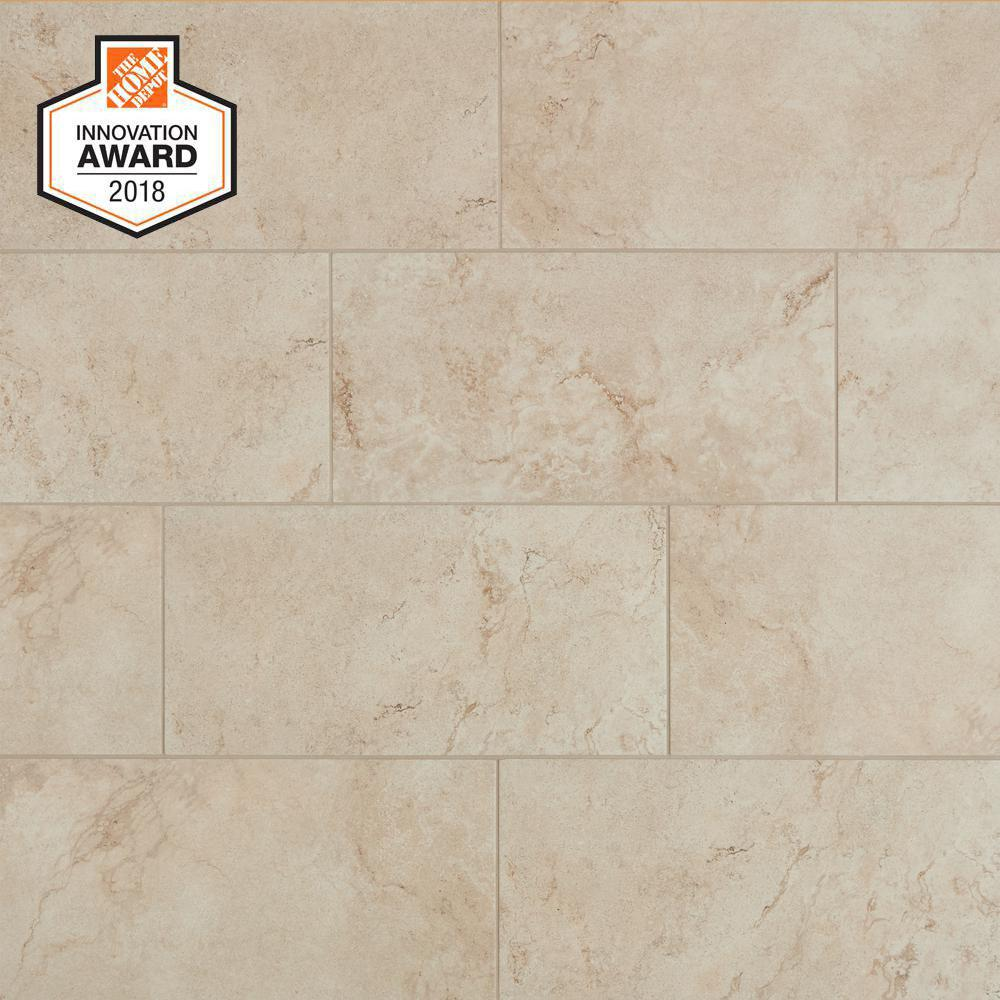 Lifeproof Limestone 12 In X 24 Glazed Porcelain Floor And Wall Tile