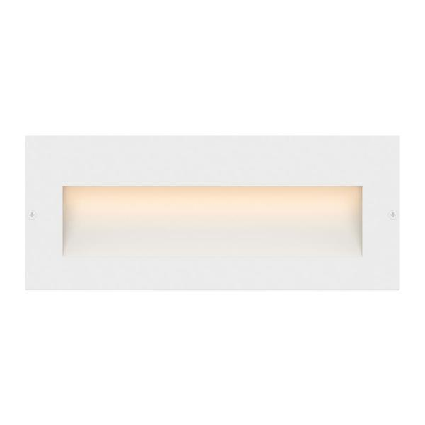 Taper Line-Voltage Satin White Integrated LED Wide Horizontal Stair Light