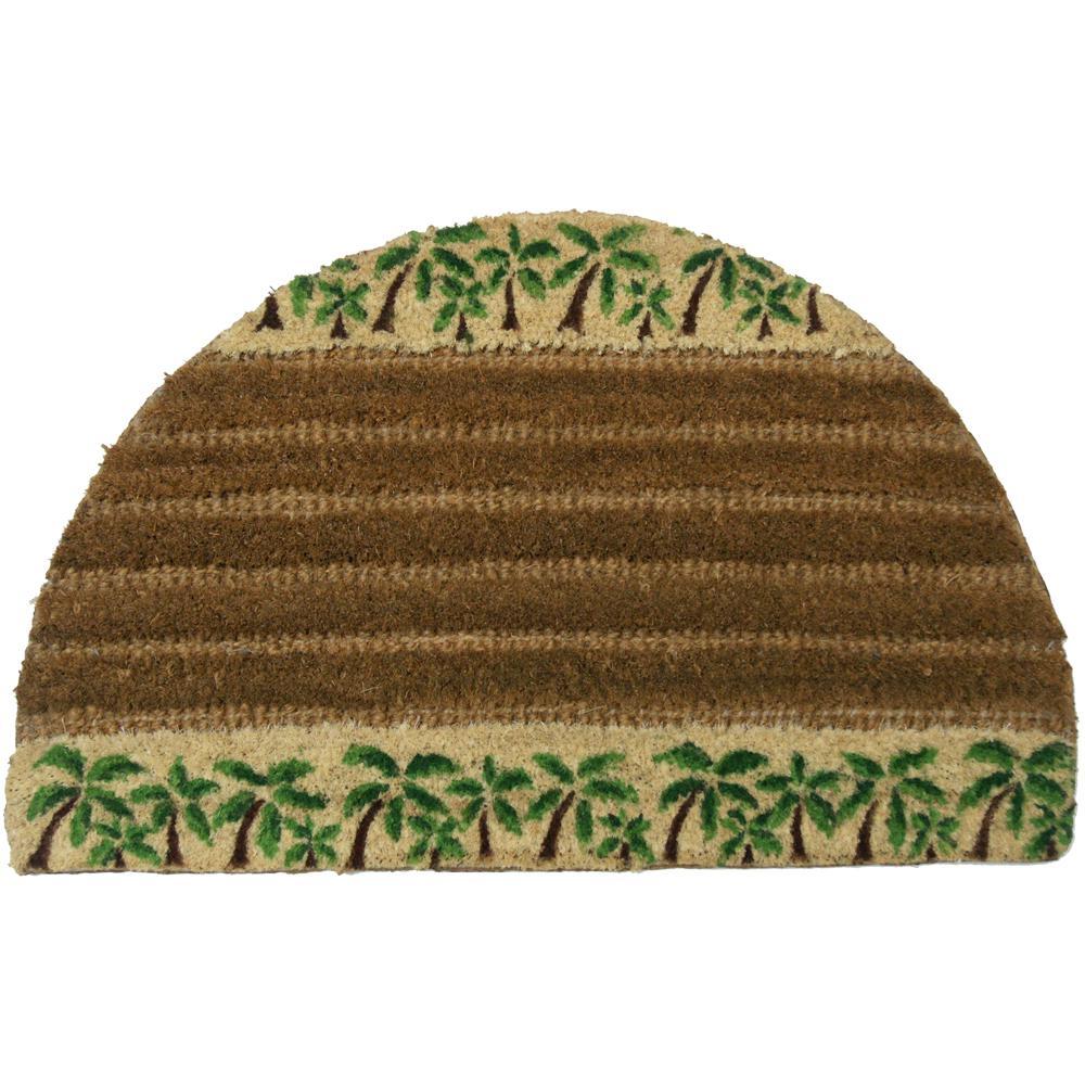 Rubber Cal Palms 18 In X 30 In Outdoor Coir Door Mat 10 102 007