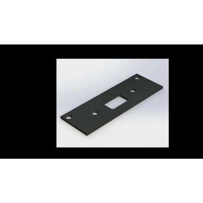 Super Strike Plate Steel Black Strike Plate