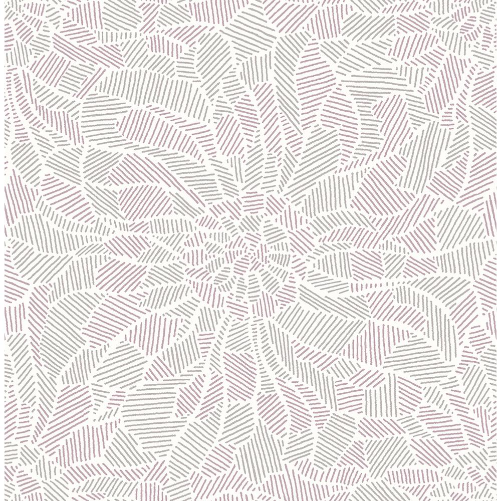 56.4 sq. ft. Daydream Purple Abstract Floral Wallpaper
