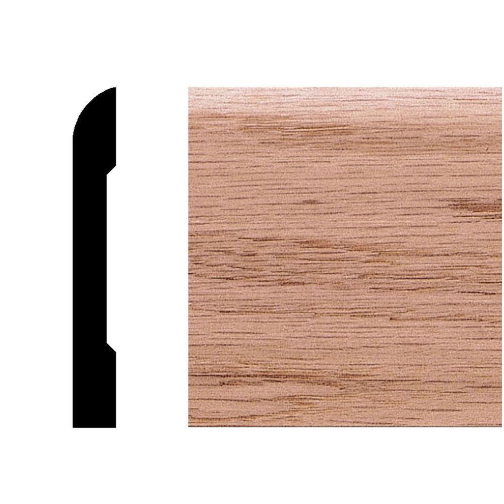 House of Fara 3/8 in. x 2-3/4 in. x 8 ft. Oak Modern Casing/Base Moulding