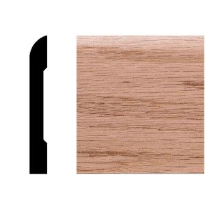 3/8 in. x 2-3/4 in. x 8 ft. Oak Modern Casing/Base Moulding