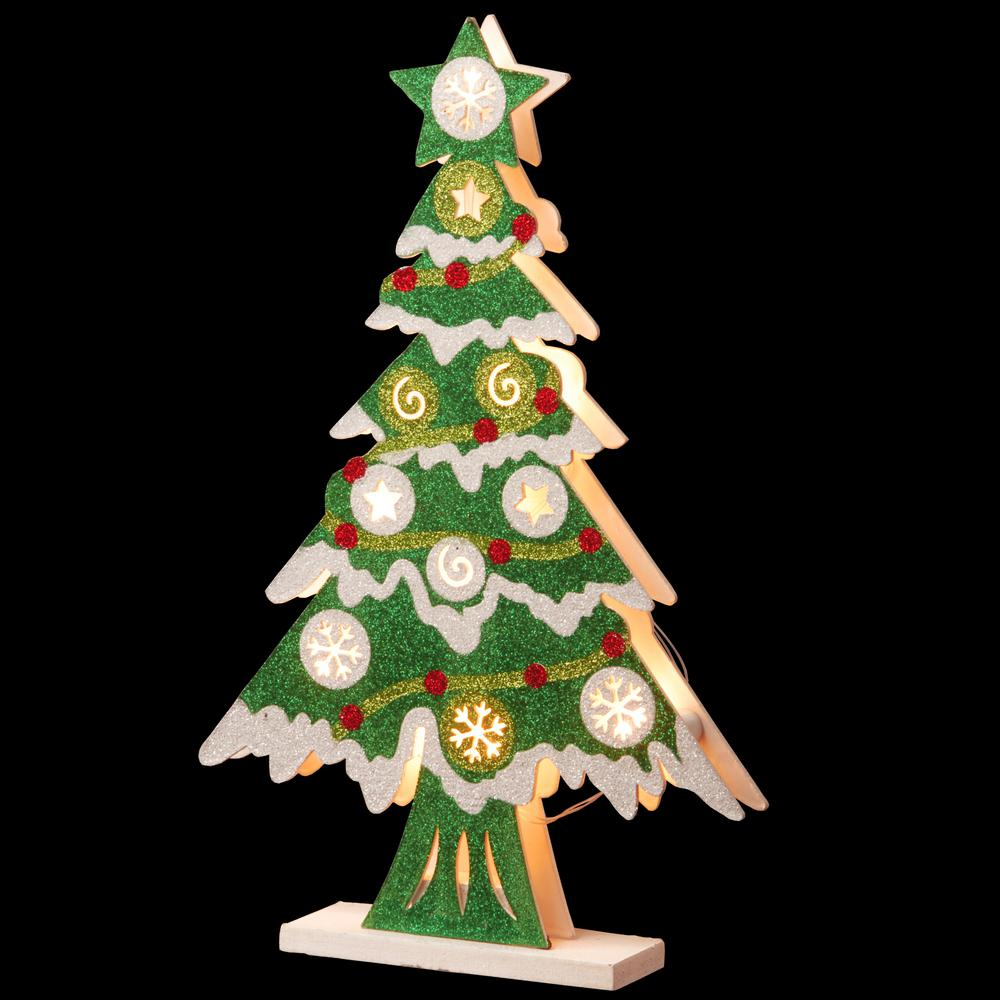 National Tree Company Pre Lit 17 In Wooden Christmas Tree