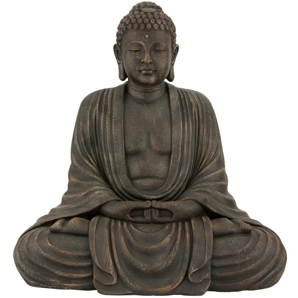Oriental Furniture 2.5 ft. Tall Japanese Sitting Buddha Decorative Statue