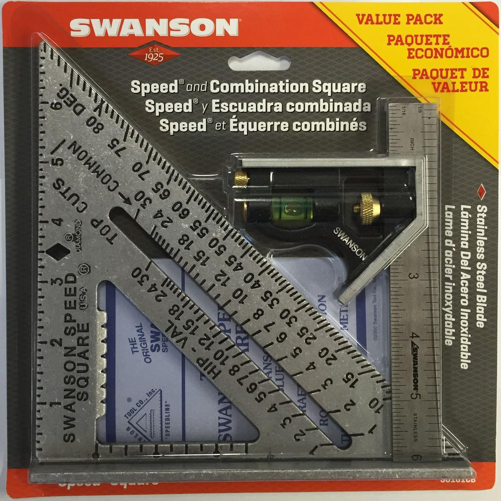 Swanson Speed Square and Combination Square Bundle