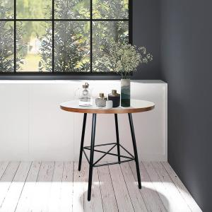 Illona Elm 36 In Round Counter Height Bar Table