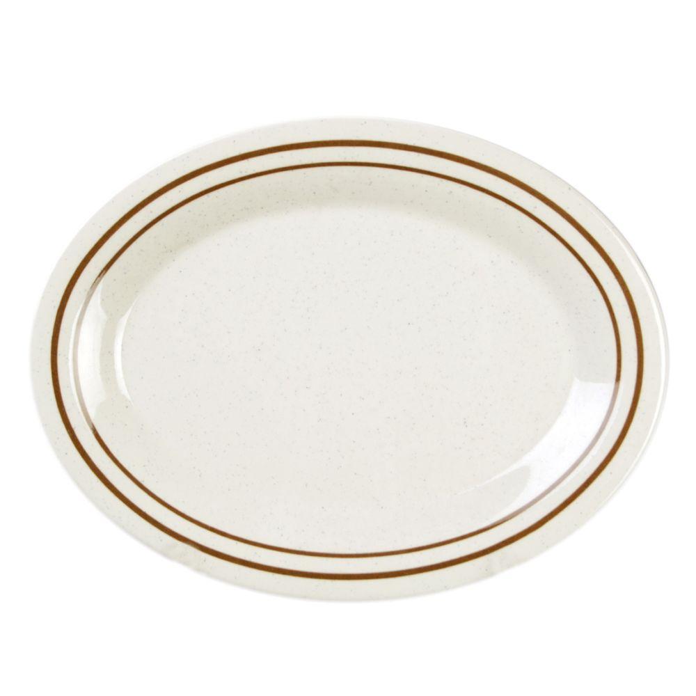 Restaurant Essentials Arcacia 24 oz., 12 inch x 9 inch Platter (12-Piece) by Restaurant Essentials