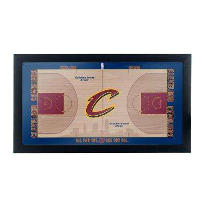 Cleveland Cavaliers Official NBA Court 15 in. x 26 in. Black Framed Plaque