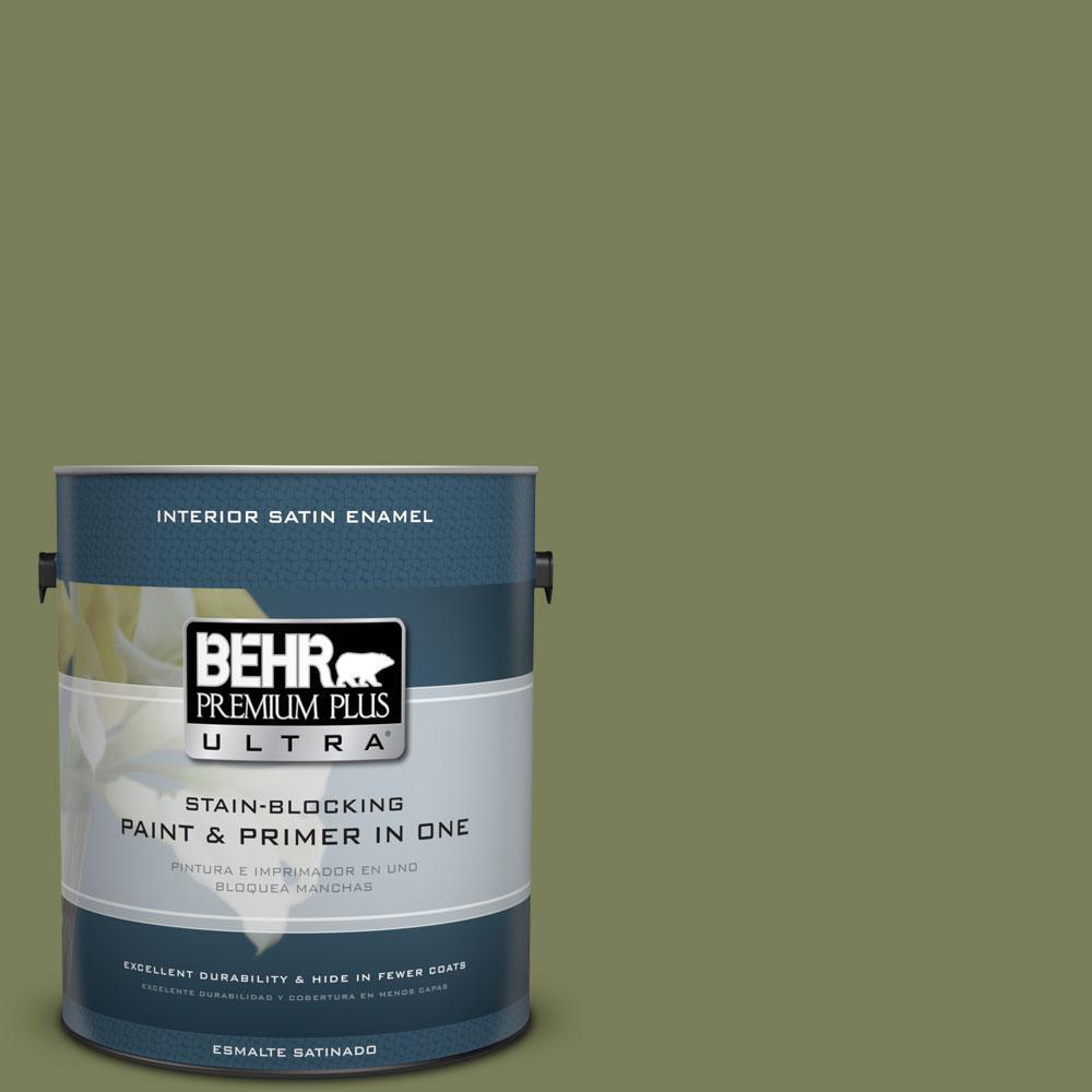 BEHR Premium Plus Ultra 1-gal. #410F-6 Grape Vine Satin Enamel Interior Paint